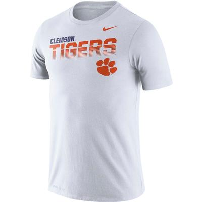 Clemson Nike Legend Sideline Short Sleeve Shirt WHITE