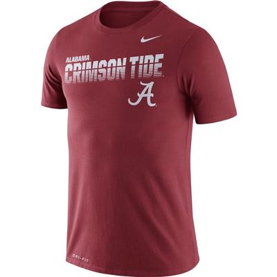 Alabama Nike Legend Sideline Short Sleeve Shirt