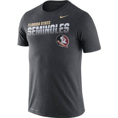 Florida State Nike Legend Sideline Short Sleeve Shirt CHARCOAL_HTHR