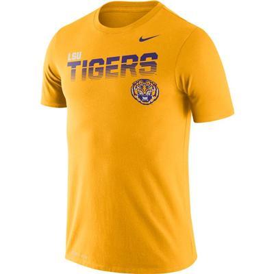 LSU Nike Legend Sideline Short Sleeve Shirt GOLD