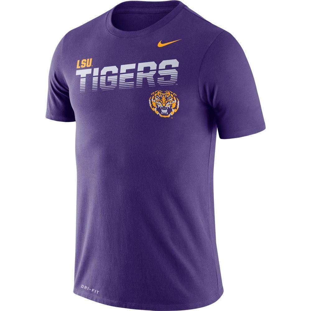 Lsu Nike Legend Sideline Short Sleeve Shirt