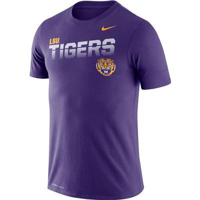 LSU Nike Legend Sideline Short Sleeve Shirt PURPLE