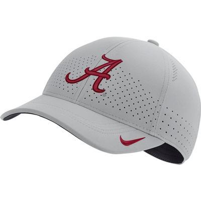 Alabama Nike Aero L91 Sideline Adjustable Hat SILVER