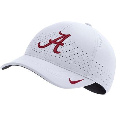 Alabama Nike Aero L91 Sideline Adjustable Hat WHITE