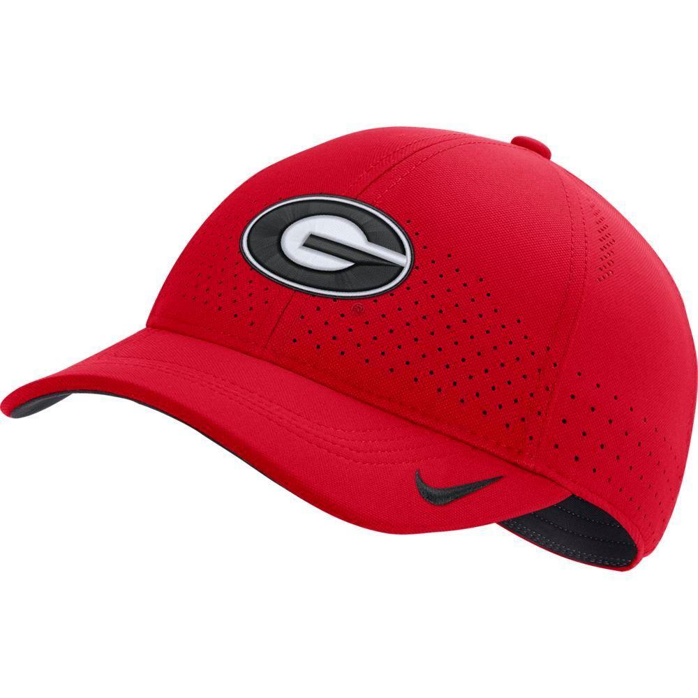 Georgia Nike Aero L91 Sideline Adjustable Hat
