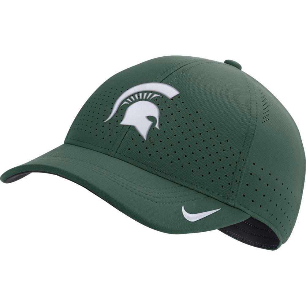 Michigan State Nike Aero L91 Sideline Adjustable Hat