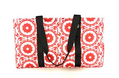 Red & White Piper Layne Utility Tote