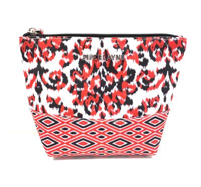 Red & Black India Cosmetic Pouch