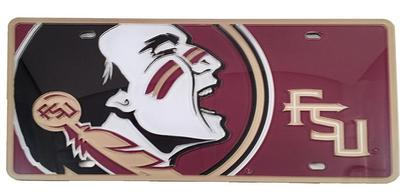 Florida State Seminole Head License Plate