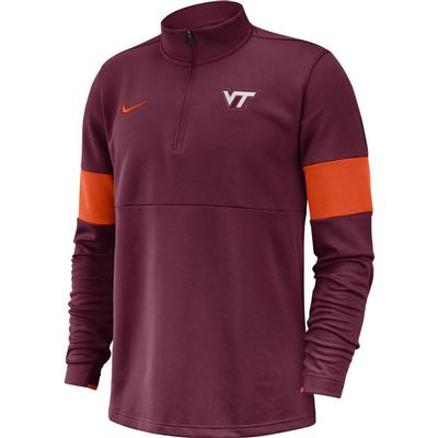 Virginia Tech Nike Therma-FIT Half Zip Pullover