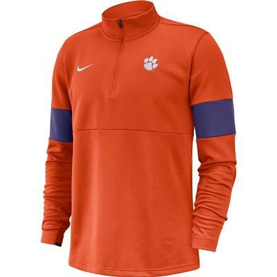 Clemson Nike Therma-FIT Half Zip Pullover ORANGE