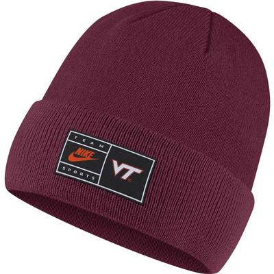 Virginia Tech Nike Throwback Label Cuff Beanie