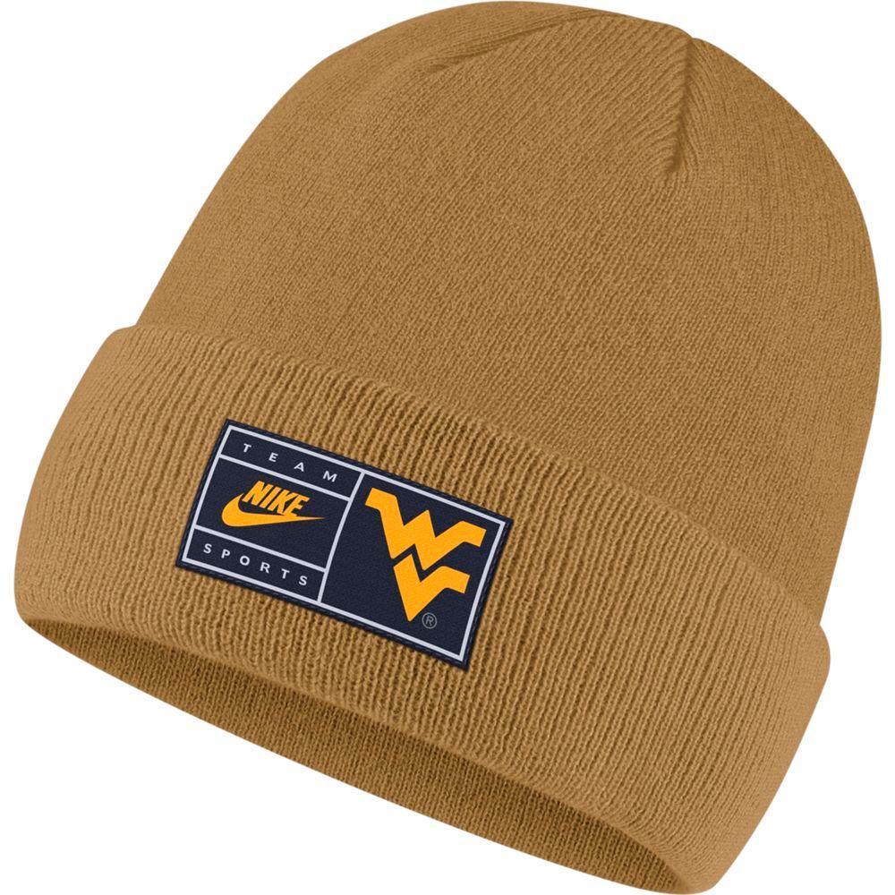West Virginia Nike Throwback Label Cuff Beanie