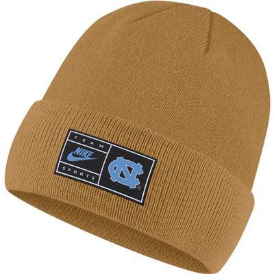 UNC Nike Throwback Label Cuff Beanie