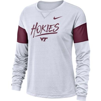 Virginia Tech Nike Dri-FIT Long Sleeve Breathe Top