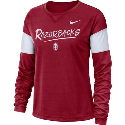Arkansas Nike Dri-FIT Long Sleeve Breathe Top