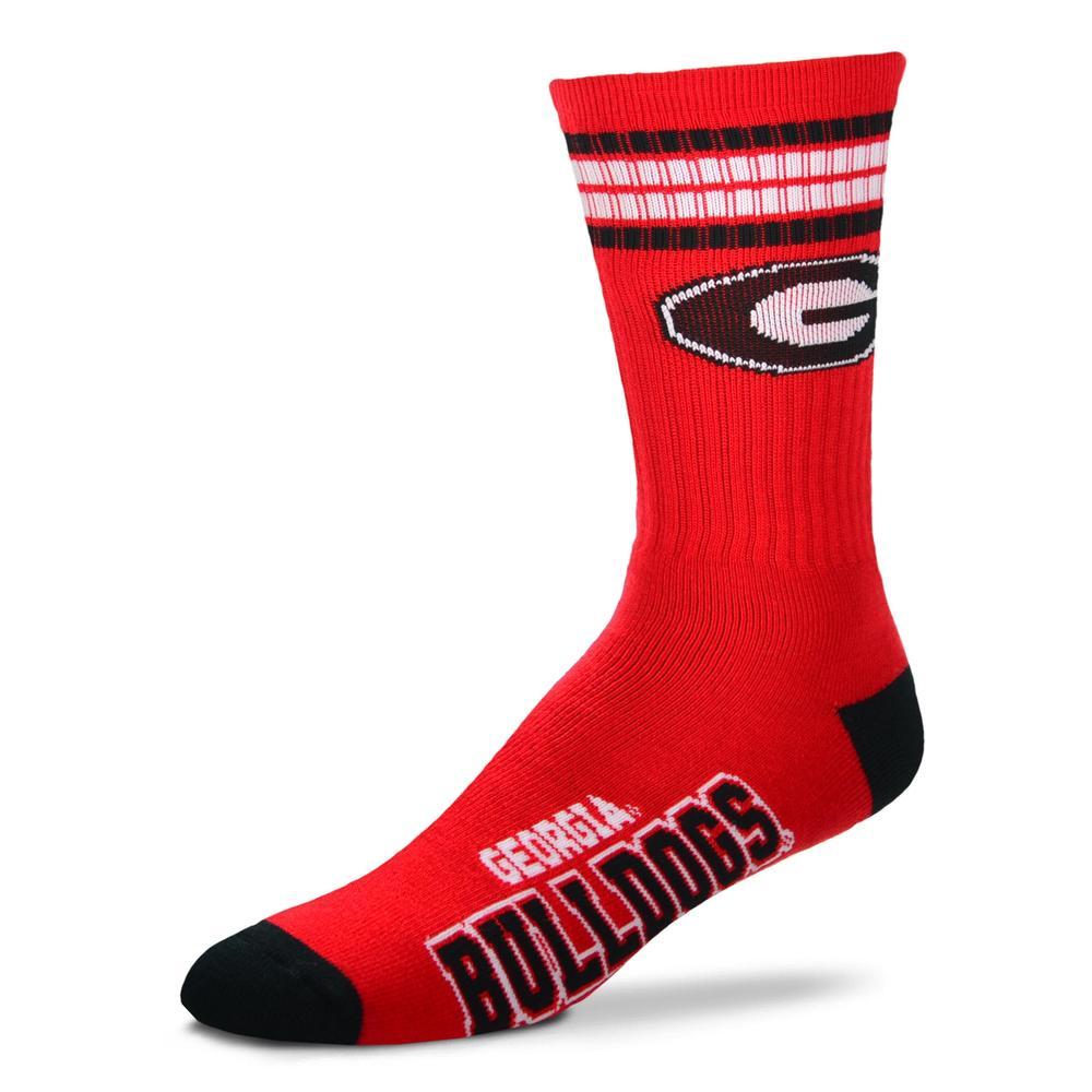 Georgia Fbf Originals Four Stripe Deuce Socks