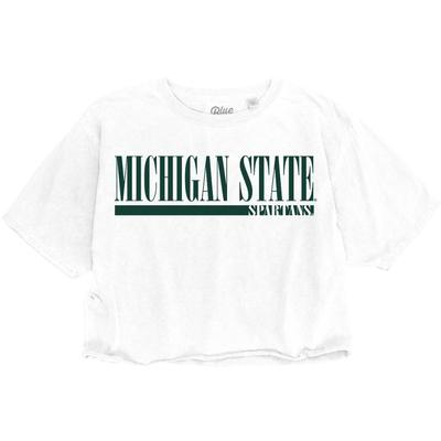 Michigan State Spartans Logo Crop Tee