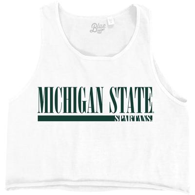 Michigan State Spartans Logo Crop Tank Top