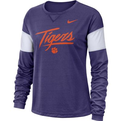 Clemson Nike Dri-FIT Long Sleeve Breathe Top