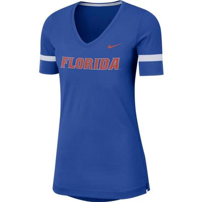 Florida Nike Dry Top Fan V Neck Short Sleeve Tee