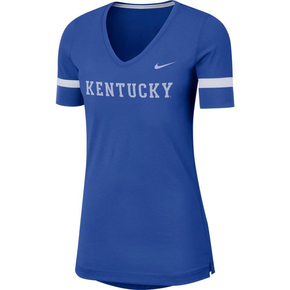 Kentucky Nike Dry Top Fan V Neck Short Sleeve Tee
