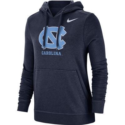 UNC Nike Women's Pullover Club Hoodie