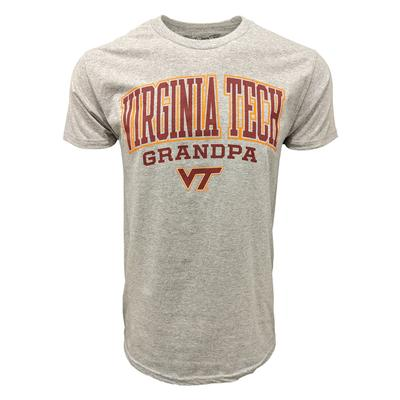 Virginia Tech Victory Grandpa T-Shirt GREY