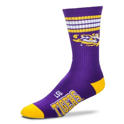 LSU Four Stripe Deuce Socks