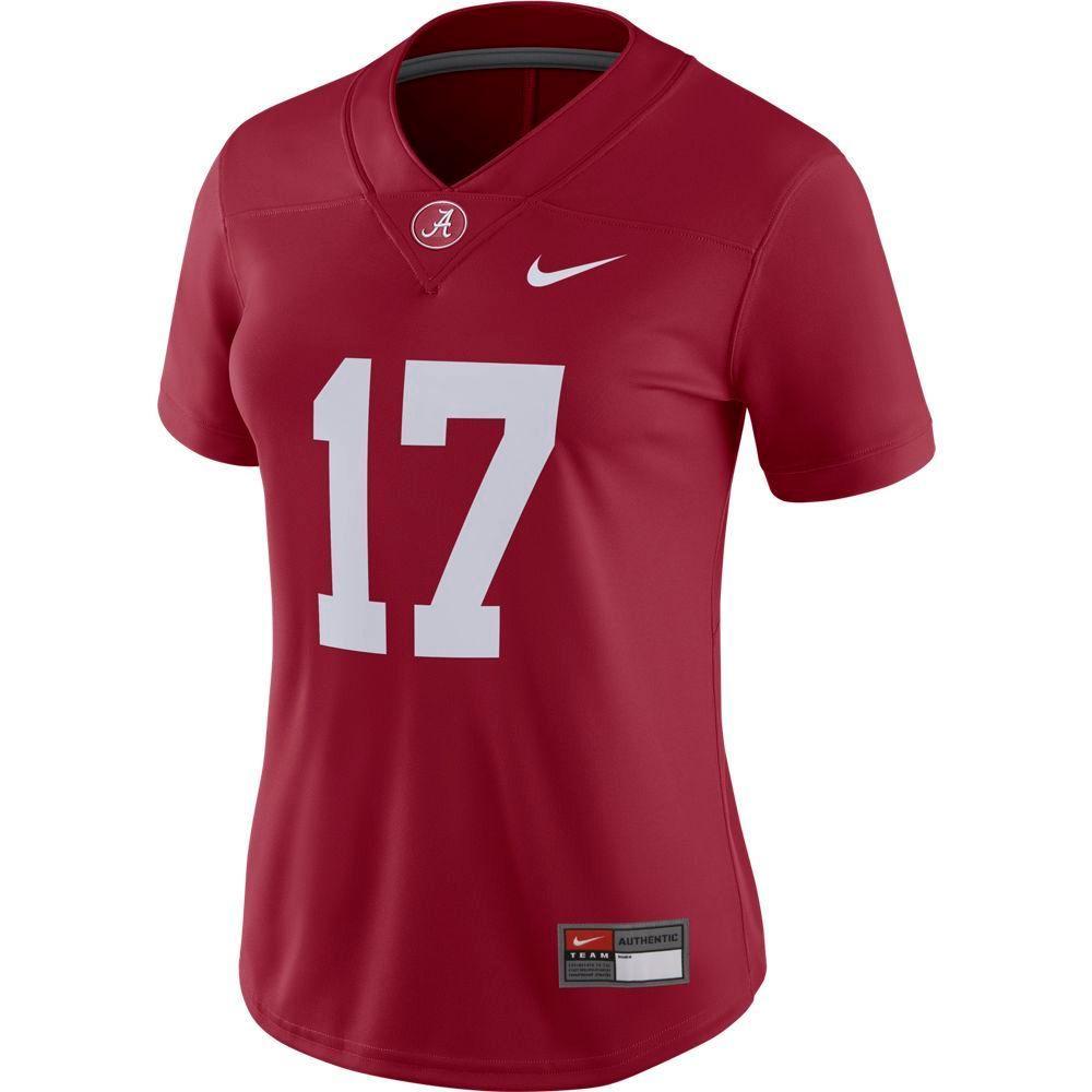 Alabama Nike Women's # 17 Game Jersey