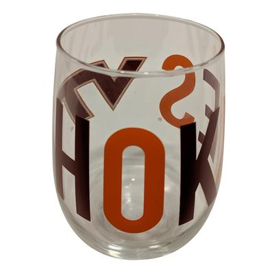 Virginia Tech 16 Oz. Stemless Wine Glass