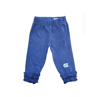 North Carolina Infant Ruffle Leggings