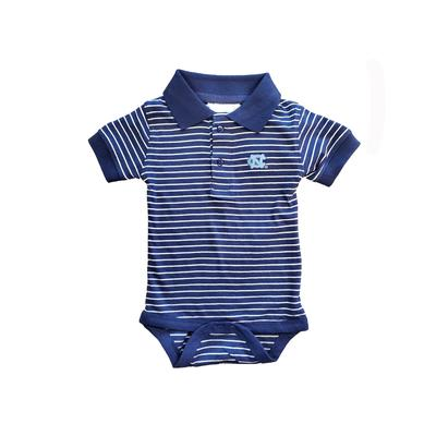 North Carolina Striped Polo Onesie