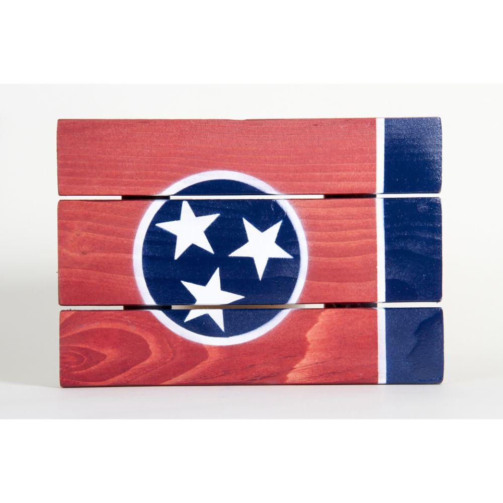 Tennessee State Flag Wooden Sign (12