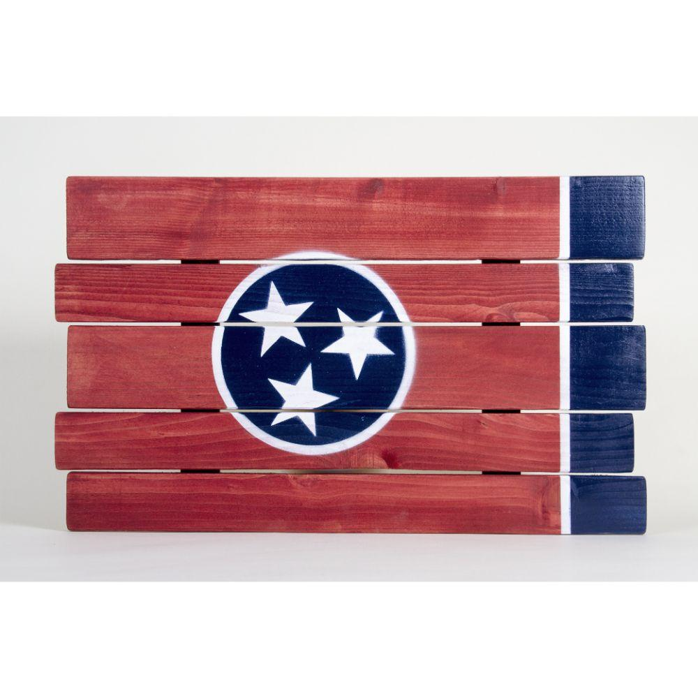 Tennessee State Flag Wooden Sign (24