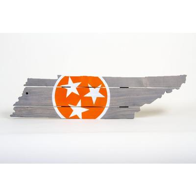 Orange Tristar Tennessee Wooden Sign (30.25