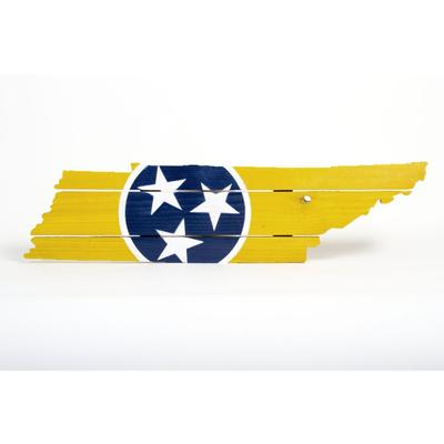Gold and Navy Tristar Tennessee Wooden Sign (30.25