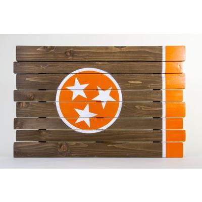Orange Tristar Tennessee Wooden Sign (35