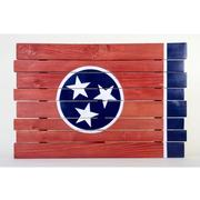 Tennessee State Flag Wooden Sign (35