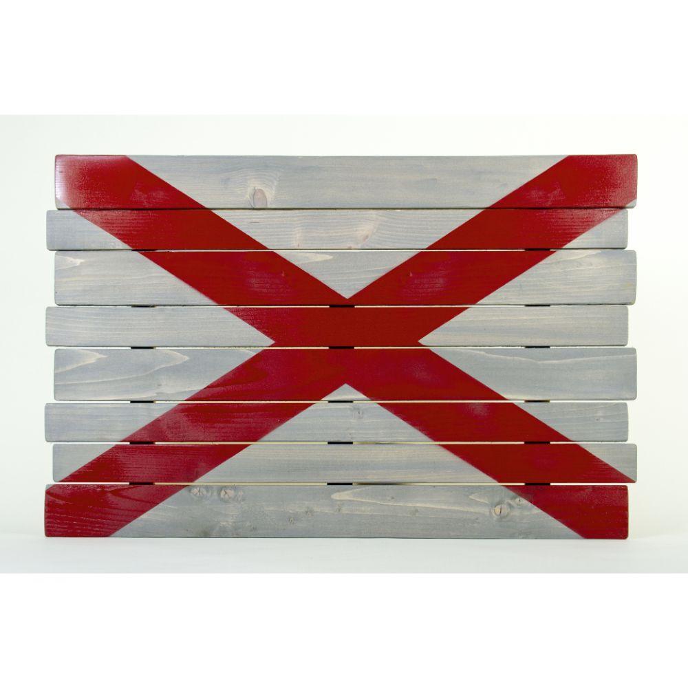 Alabama State Flag Wooden Sign (35
