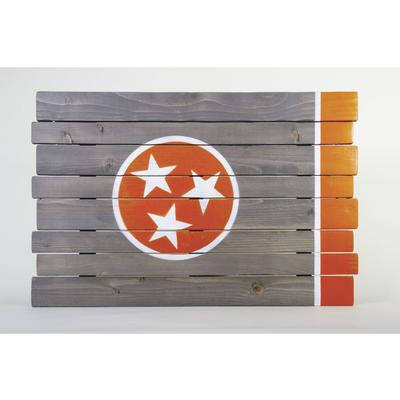 Orange Tristar Tennessee Wooden Sign (35