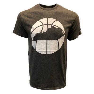 Kentucky Outline Short Sleeve Basketball T-Shirt CHARCOAL