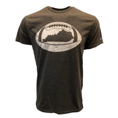 Kentucky Outline Short Sleeve Football T-Shirt CHARCOAL