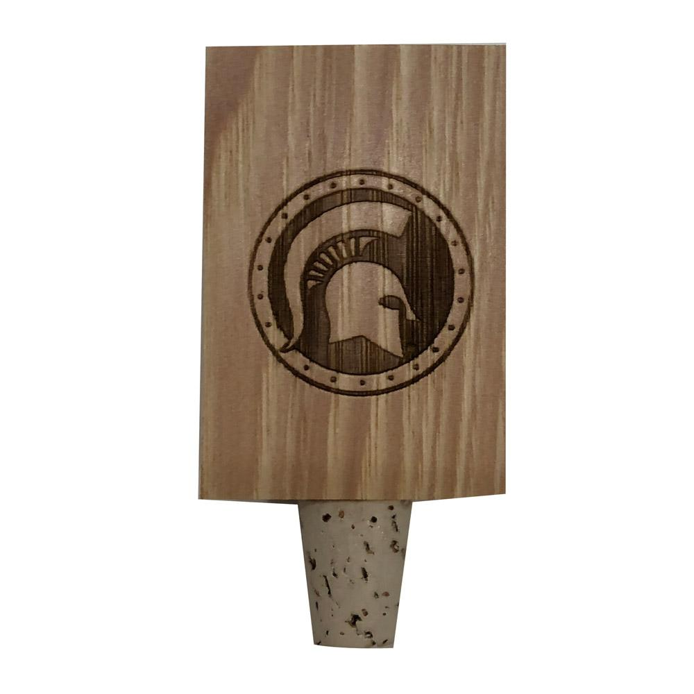 Michigan State Timeless Etchings Hickory Bottle Stopper