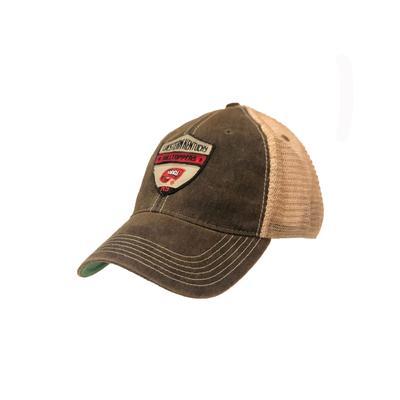 Western Kentucky Shield Mesh Trucker Hat BLACK/MESH
