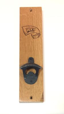 Western Kentucky Timeless Etchings Razorback Logo Mounted Bottle Opener