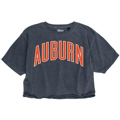 Auburn Blue 84 Arch Crop Tee