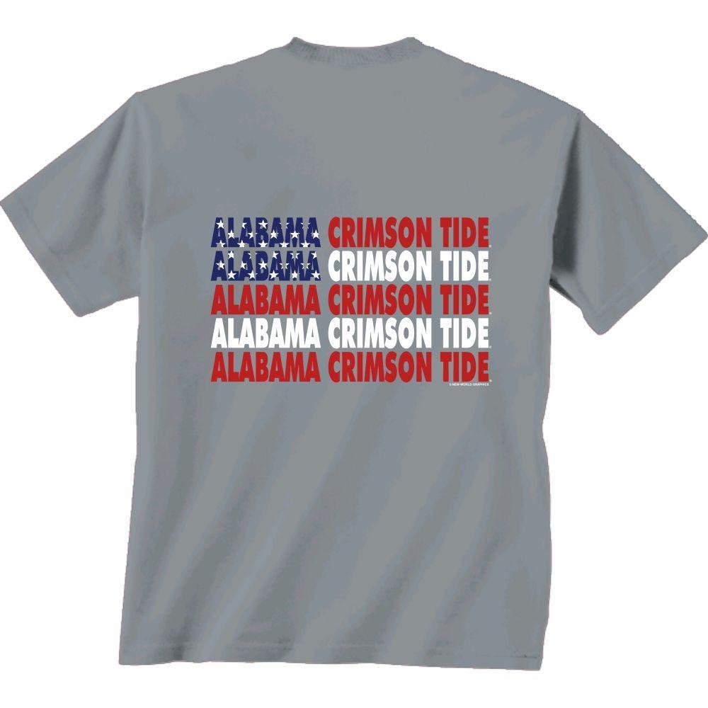 Alabama Crimson Tide Patriotic Comfort Colors Tee Shirt