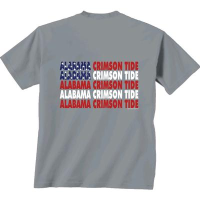 Alabama Crimson Tide Patriotic Comfort Colors Tee Shirt