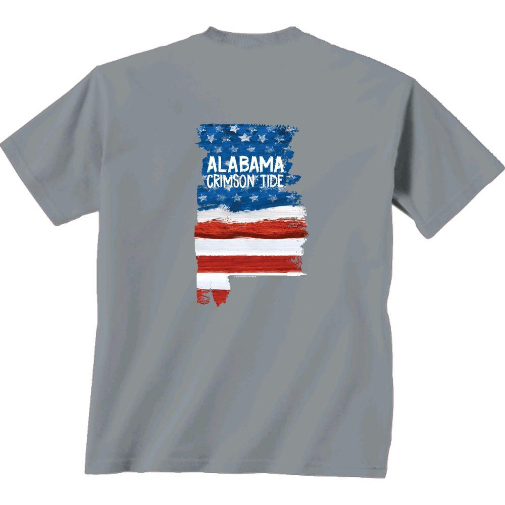 Alabama Patriotic Fill Comfort Colors Tee Shirt